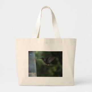 Humming Bird in Mid Air Large Tote Bag