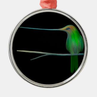 Humming Bird Metal Ornament