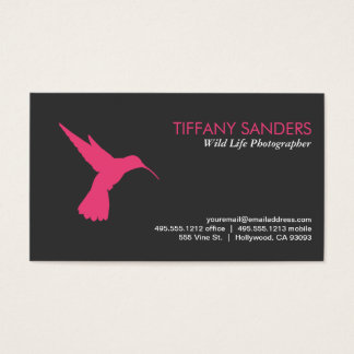 Humming Bird Pink Business Card