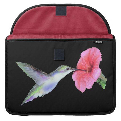Humming Bird Rickshaw Laptop Sleeve w/flap (2) siz Sleeves For MacBooks