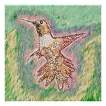Humming Bird Sq Print