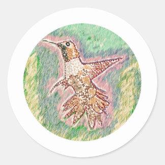Humming Bird Round Stickers