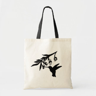 Humming Bird Stilhouette Tote Bag