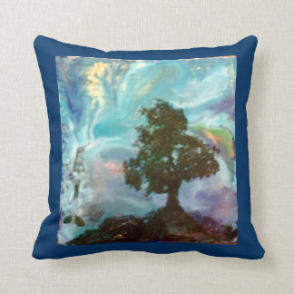 Humming Bird Tree Hill Art Pillow