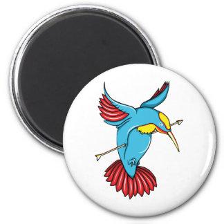 Humming Bird ~ Vintage Forties Tattoo Bird Art Refrigerator Magnets