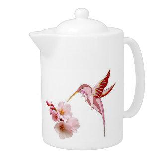 Humming Birds & CherryBlossoms Teapot