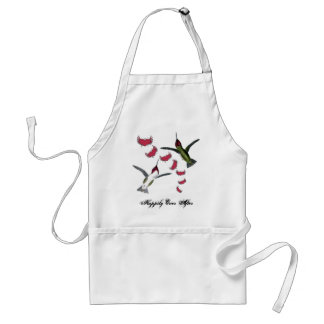 Humming Birds Grunge Hearts with Wings Adult Apron