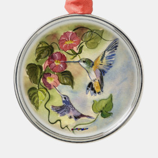 Humming Birds Metal Ornament