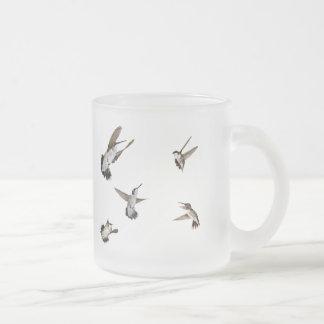 Humming Birds 10 Oz Frosted Glass Coffee Mug