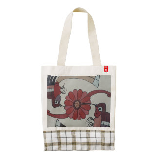 Humming -Colibree Birds Peru Zazzle HEART Tote Bag