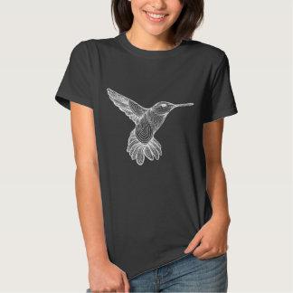Humming-print inverted shirt