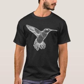 Humming-print inverted T-Shirt