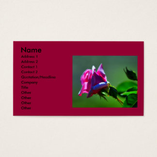 Humming rose business card