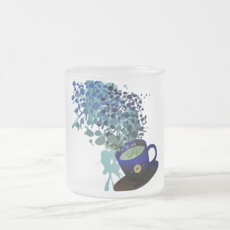 Humming_Tunes Frosted Glass Coffee Mug