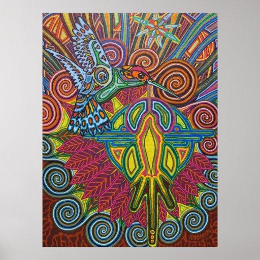 hummingbird - 2010 as poster/canvas
