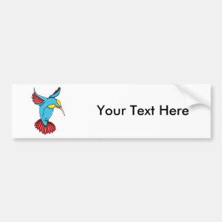 HummingBird 2 ~ Vintage Forties Tattoo Bird Art Car Bumper Sticker