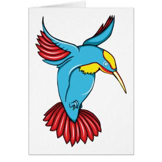 HummingBird 2 ~ Vintage Forties Tattoo Bird Art Card
