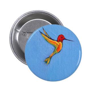 Hummingbird 3 pinback button