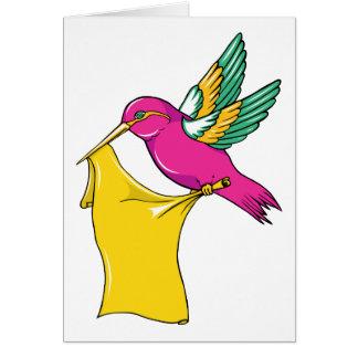 Hummingbird 3 ~ Vintage Forties Tattoo Bird Art Card