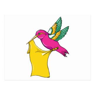Hummingbird 3 ~ Vintage Forties Tattoo Bird Art Postcard