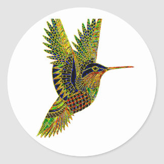 Hummingbird 7b classic round sticker