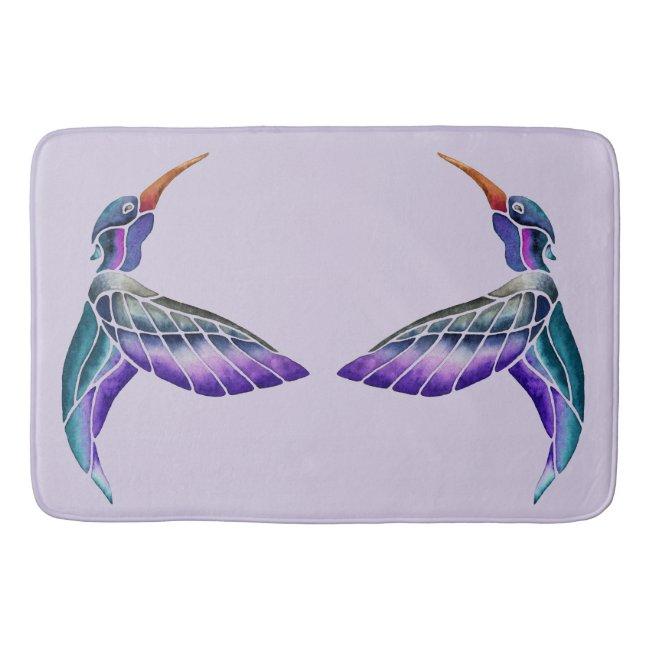 Hummingbird Abstract Watercolor