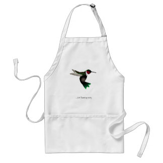 Hummingbird Adult Apron