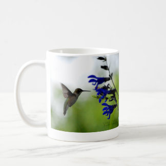 Hummingbird and Blue Salvia Coffee Mug