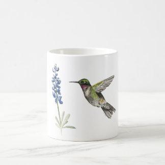 Hummingbird and Bluebonnet Coffee Mug