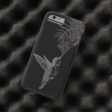 Hummingbird And Cypress Flower Tough iPhone 6 Case