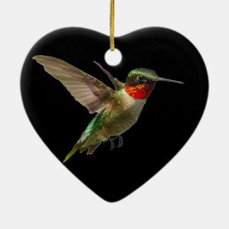 Hummingbird And Delphinium Ceramic Ornament