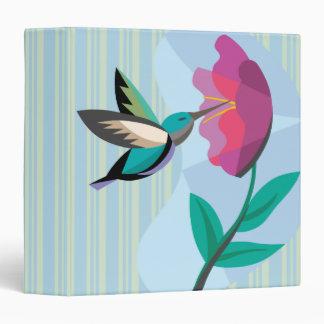 Hummingbird and flower notebook 3 ring binders