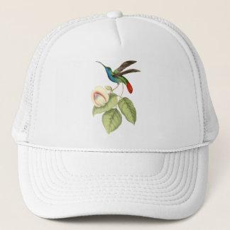 Hummingbird and Flower Trucker Hat
