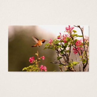 Hummingbird and Flowers Business Card