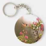 Hummingbird and Flowers Key Chain
