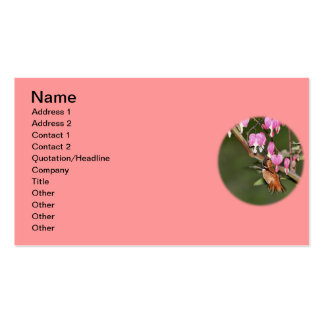 Hummingbird and Flowers Picture Business Card