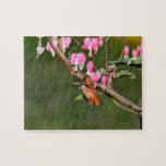 Hummingbird and Flowers Picture Puzzle