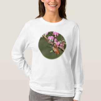 Hummingbird and Flowers Picture T-Shirt