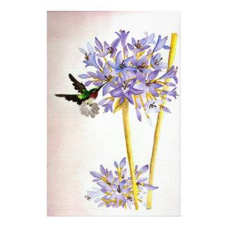 Hummingbird and Flowers Stationery