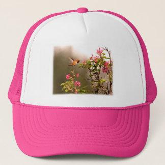 Hummingbird and Flowers Trucker Hat