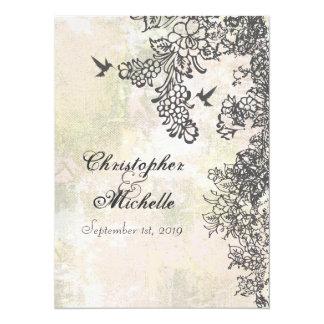 "Hummingbird and Flowers Wedding Invitation 5.5"" X 7.5"" Invitation Card"