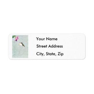 Hummingbird and Fuchsia Address Labels