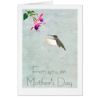 Hummingbird and Fuchsia Mother's Day Card