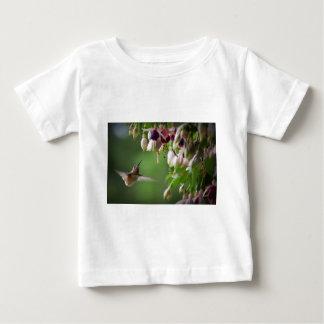 Hummingbird and Fushia Plant Baby T-Shirt