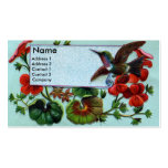 Hummingbird and Geraniums Victorian Double-Sided Standard Business Cards (Pack Of 100)