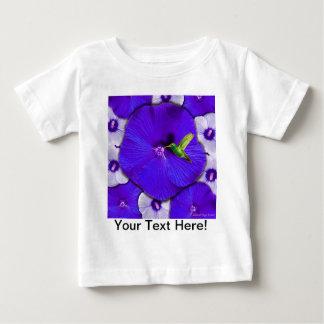Hummingbird and Lavender Hibiscus Baby T-Shirt