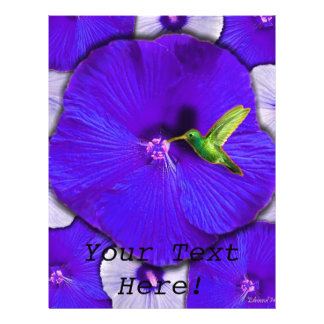 Hummingbird and Lavender Hibiscus Flyer