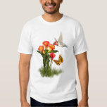 Hummingbird and lilies t shirt