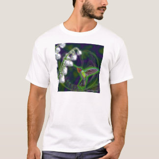 Hummingbird and Lily of the Valley Illusion T-Shirt