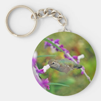 Hummingbird and Mexican Sage II Key Chains